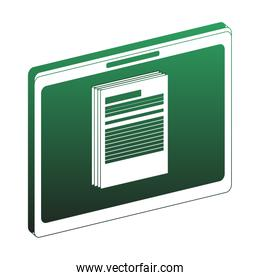 Information in tablet green lines
