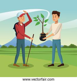 Mens and gardening