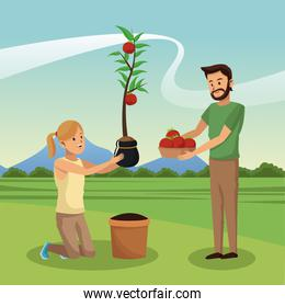 People and gardening