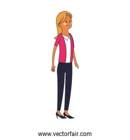 Executive business woman cartoon pop colors