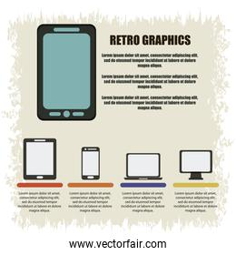 Infographics icon. Retro design. Vector graphic