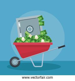 Money savings and investment icon vector ilustration
