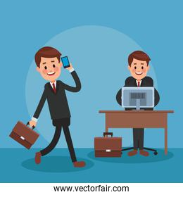Lawyers and work icon vector ilustration