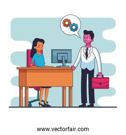 Business and people cartoons