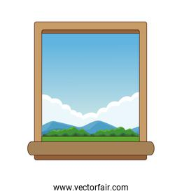 Window and landscape