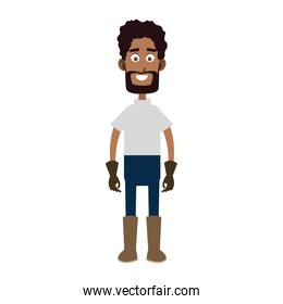 Farmer man cartoon