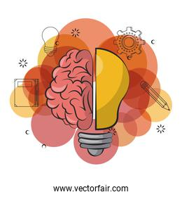 Mind and brain power concept