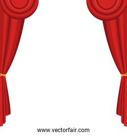 Theater curtains isolated