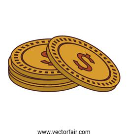 Money coins isolated