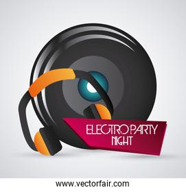 Speaker and headphone icon. Dance and Music design. Vector graph