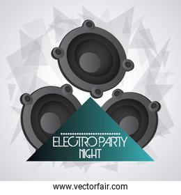 Speaker icon. Dance and Music design. Vector graphic