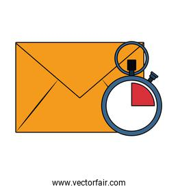 Envelope mail and clock