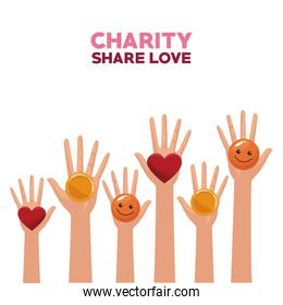 Charity share and love