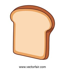 Bread sliced isolated