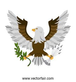 Eagle with arrows and leaves