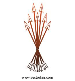 Bow arrows symbol red lines