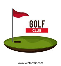 flag and hole icon. Golf sport design. Vector graphic
