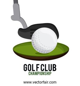 ball and club icon. Golf sport design. Vector graphic