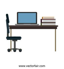 Office with computer