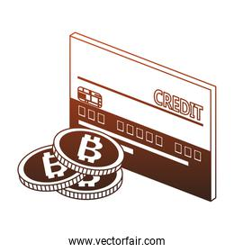 Credit card and bitcoins red lines
