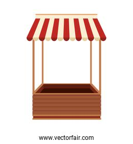 Wooden booth stand