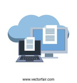 Laptop and computer with cloud computing