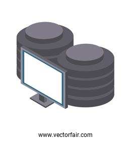 Computer with disks isometric