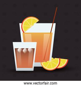 cocktail orange glass summer alcohol icon