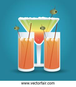 cocktail olive glass summer alcohol icon