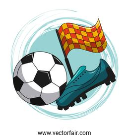 Soccer cartoon elements