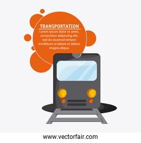 Train transportation vehicle travel, vector