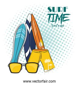 surf time theme poster