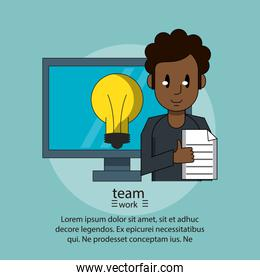 Teamwork poster with information