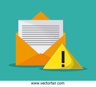 envelope mail communication icon vector