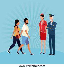 Aviation workers cartoons