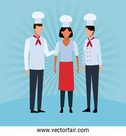 Restaurant teamwork avatar
