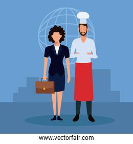 Chef and businesswoman