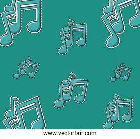 Music notes background cartoons
