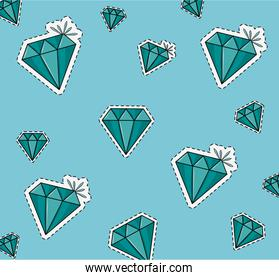 Diamonds background cartoons