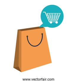 Shopping bag and cart bubble