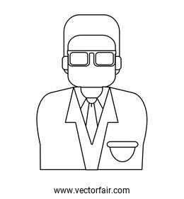 Doctor avatar profile in black and white