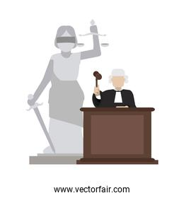 Judge on podium