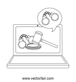 Online legal advice black and white