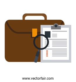 Business briefcase and files