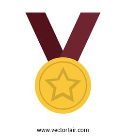 Medal award with star