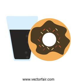 Donut and soda cup