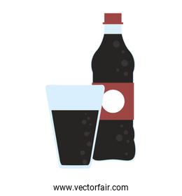 Soda bottle and cup