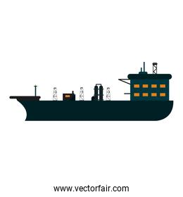 Oil freighter ship