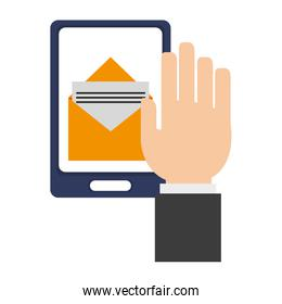 Email sending from smartphone