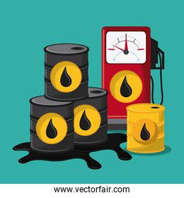 oil industry production petroleum icon